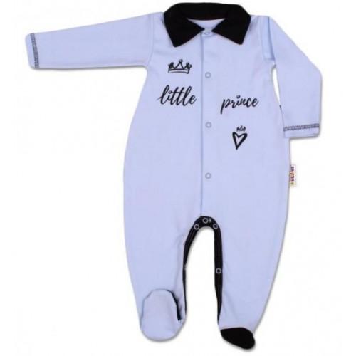 Baby Nellys Bavlněný overálek Little Prince - modrý, vel. 62, 62 (2-3m)