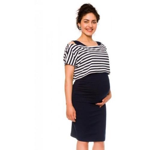 Be MaaMaa 2-dílné těhotenské/kojící šaty Sia - granát, vel. M, M (38)