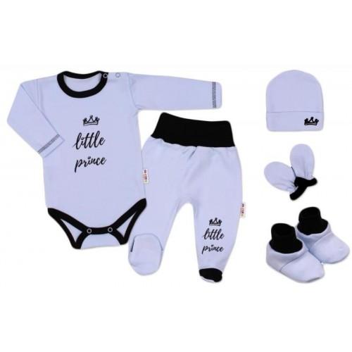 Baby Nellys 5-ti dílná soupravička do porodnice Princ, vel. 62 - modrá, 62 (2-3m)