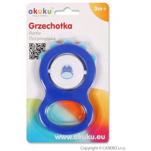 Dětské chrastítko Akuku modré