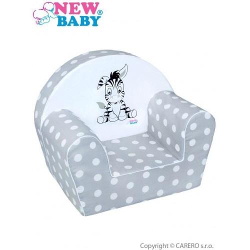 Dětské křeslo New Baby Zebra šedé