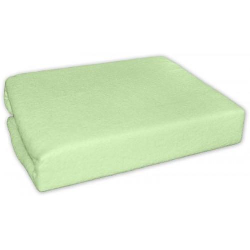 Froté prostěradlo 140x70cm - zelené, 140x70