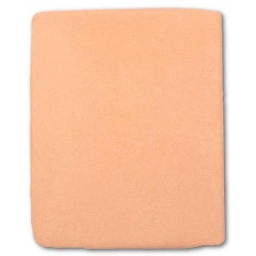 Froté prostěradlo do postýlky 120x60 cm -oranžová