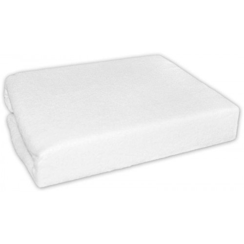 Froté prostěradlo do postele - bílé, 160x70