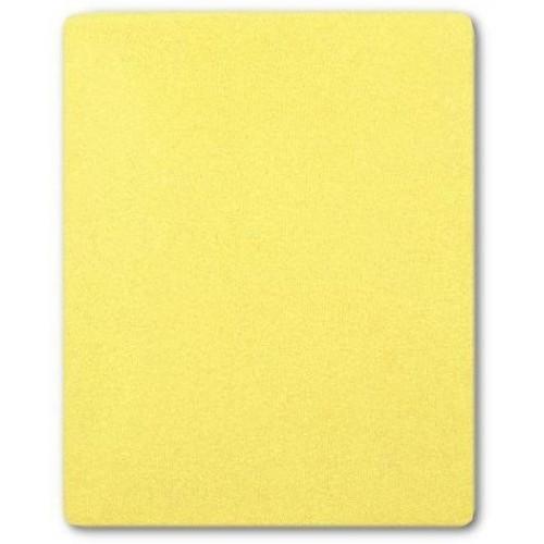 Froté prostěradlo do postýlky 120x60 cm - žlutá