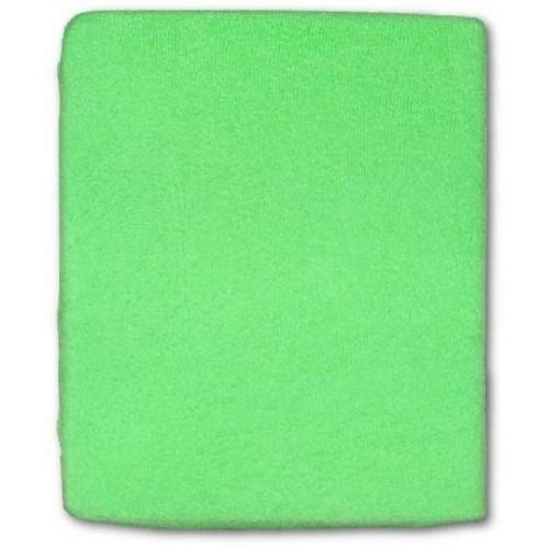 Froté prostěradlo do postýlky 120x60 cm - zelená