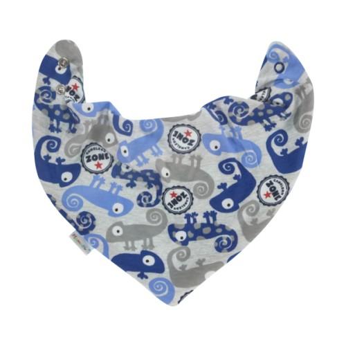 Mamatti Dětský šátek na krk Chameleon, modrý