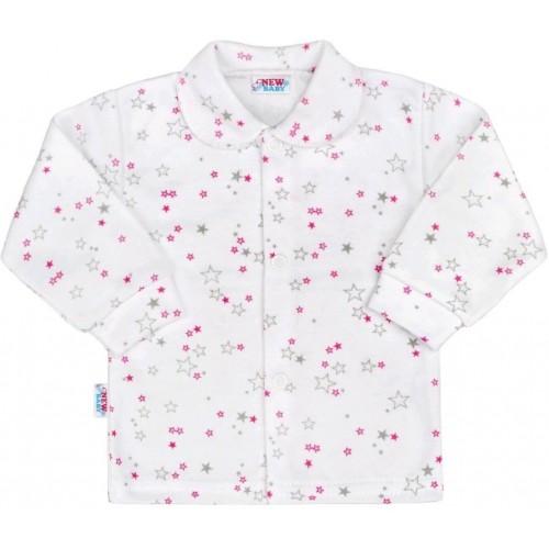 Kojenecký kabátek New Baby Magic Star růžový Růžová 74 (6-9m)