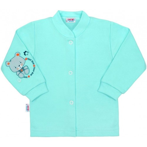 Kojenecký kabátek New Baby teddy tyrkysový Tyrkysová 56 (0-3m)