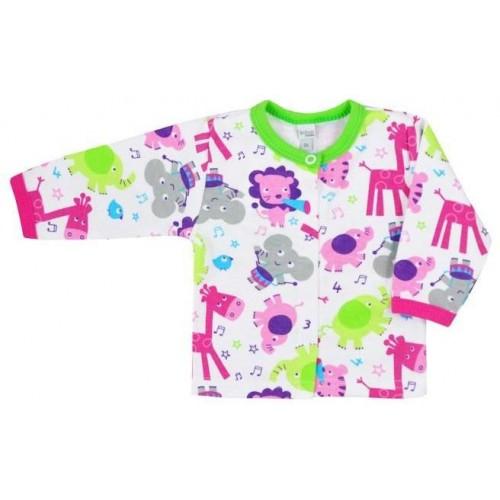 Kojenecký kabátek Bobas Fashion Zoo zelený pro holky Zelená 68 (4-6m)