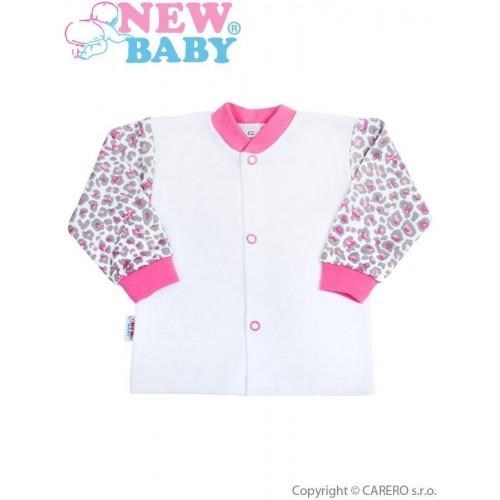 Kojenecký kabátek New Baby Leopardík růžový Růžová 50