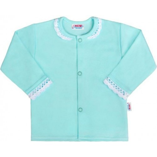 Kojenecký bavlněný kabátek New Baby Angel modrý Modrá 68 (4-6m)