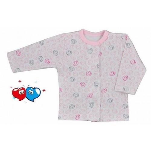 Kojenecký kabátek Koala Magnetky růžový se spirálkami Růžová 68 (4-6m)