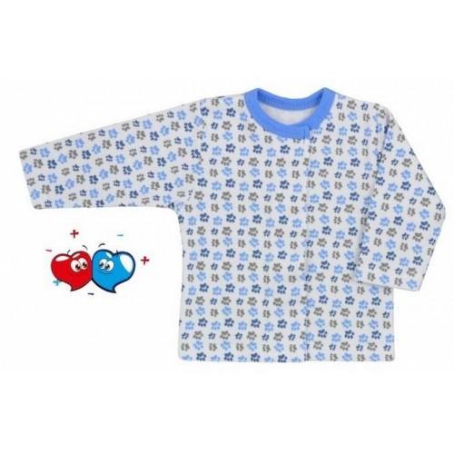 Kojenecký kabátek Koala Magnetky modrý s tlapkami Modrá 62 (3-6m)
