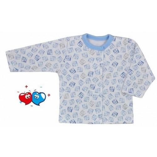 Kojenecký kabátek Koala Magnetky modrý s kostičkami Modrá 68 (4-6m)