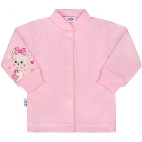 Kojenecký kabátek New Baby medvídek růžový Růžová 68 (4-6m)