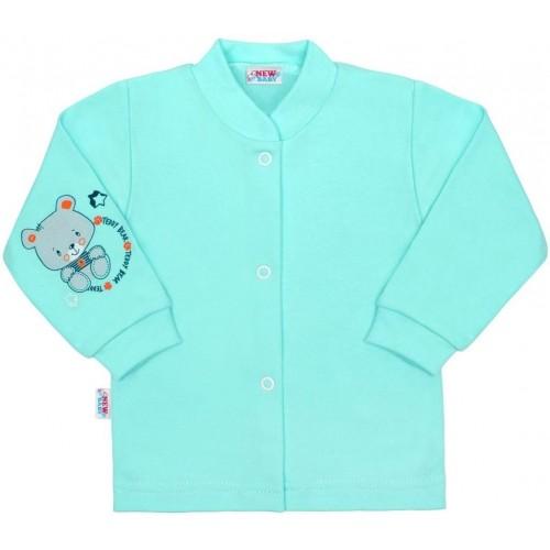 Kojenecký kabátek New Baby teddy tyrkysový Tyrkysová 68 (4-6m)