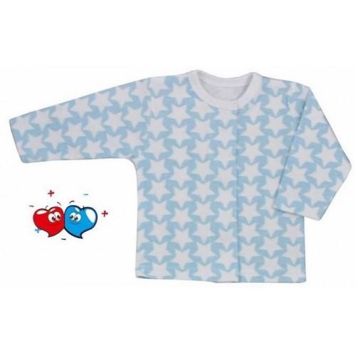 Kojenecký kabátek Koala Magnetky modrý s hvězdičkami Modrá 68 (4-6m)