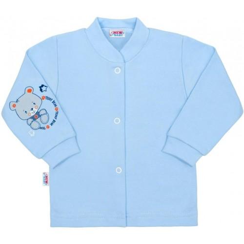 Kojenecký kabátek New Baby teddy modrý Modrá 74 (6-9m)