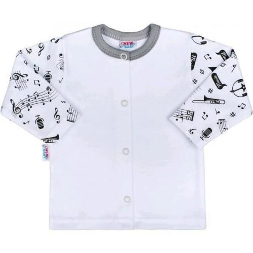 Kojenecký bavlněný kabátek New Baby Music Bílá 68 (4-6m)