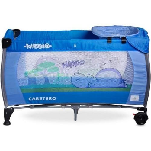 Cestovní postýlka CARETERO Medio Safari blue