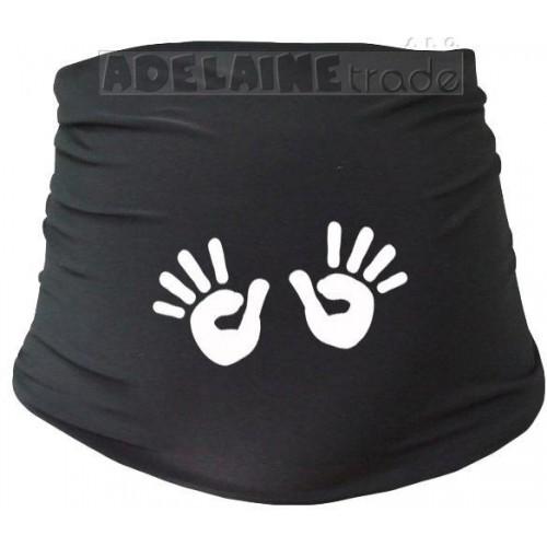 Těhotenský pás s ručičkami, vel. S/M - černý, S/M