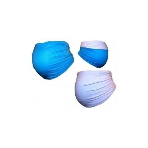 Těhotenský pás DUO - modrá s bílou, S/M
