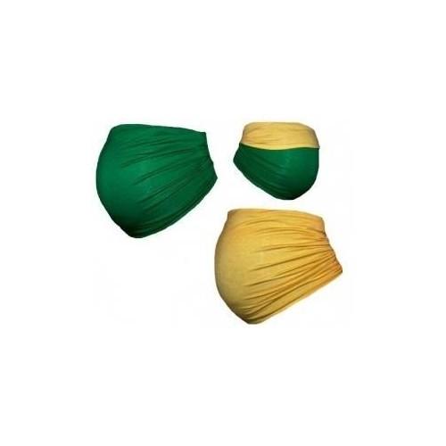 Těhotenský pás DUO - zelená se žlutou, vel. L, L (40)