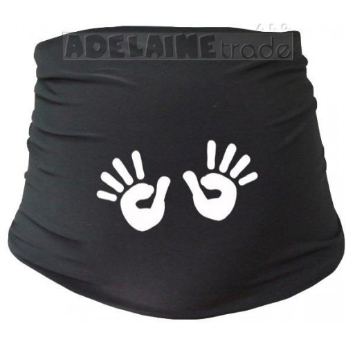 Těhotenský pás s ručičkami, vel. L/XL - černý, L/XL